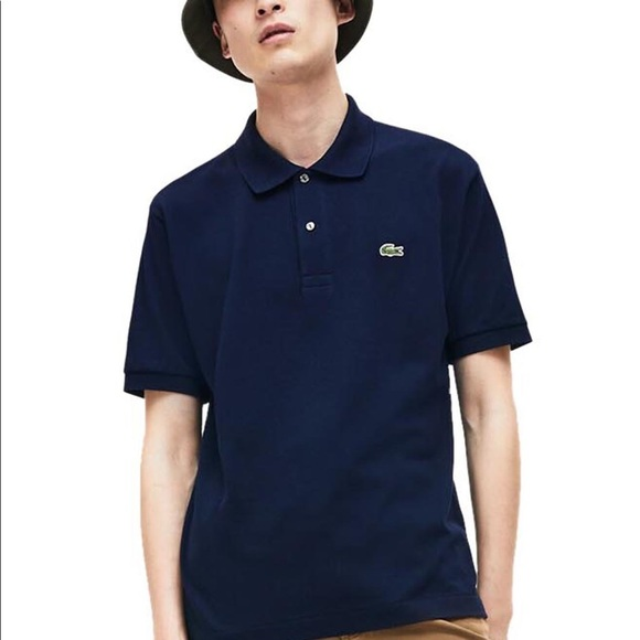 Lacoste Classic Fit Dark Blue Shortsleeve Polo - M